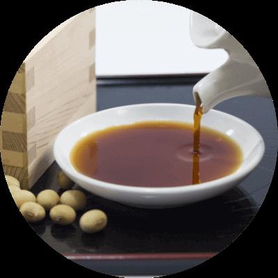 岐阜県産の大豆と水都大垣の地下水を使用したこだわりのおしょうゆ